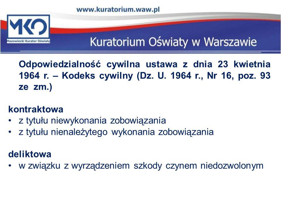 Odpowiedzialność cywilna ustawa z dnia 23 kwietnia 1964 r