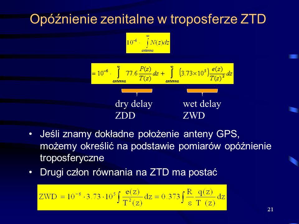 Opóźnienie zenitalne w troposferze ZTD