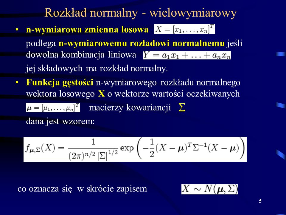 Rozkład normalny - wielowymiarowy