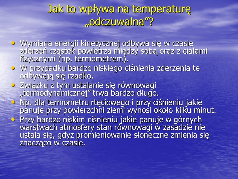 """Jak to wpływa na temperaturę """"odczuwalna"""