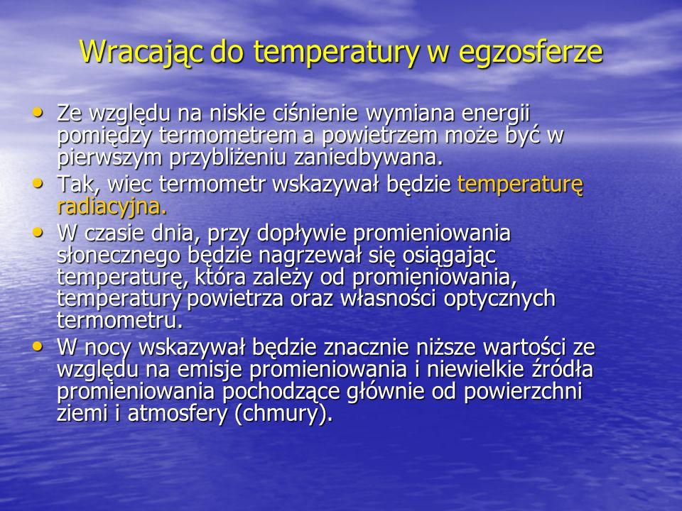Wracając do temperatury w egzosferze
