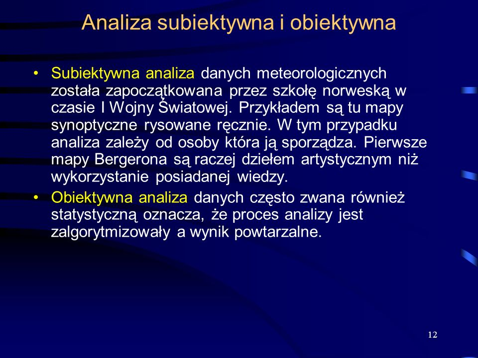 Analiza subiektywna i obiektywna