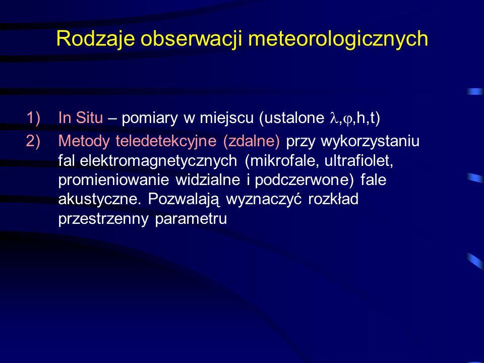 Rodzaje obserwacji meteorologicznych