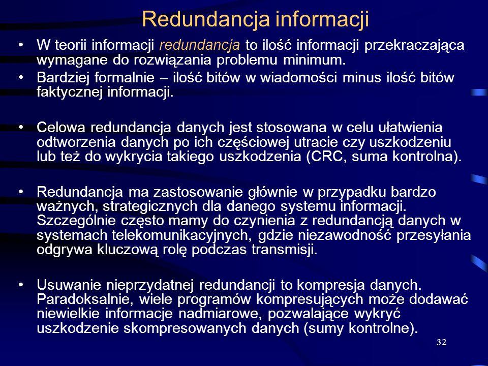 Redundancja informacji