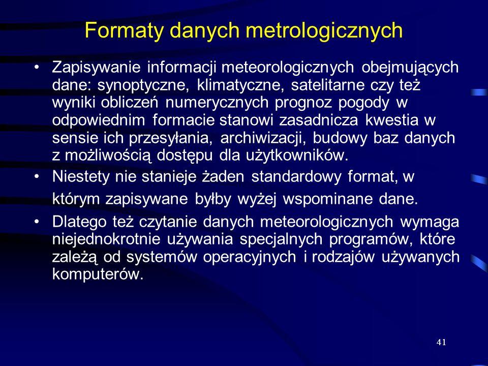 Formaty danych metrologicznych