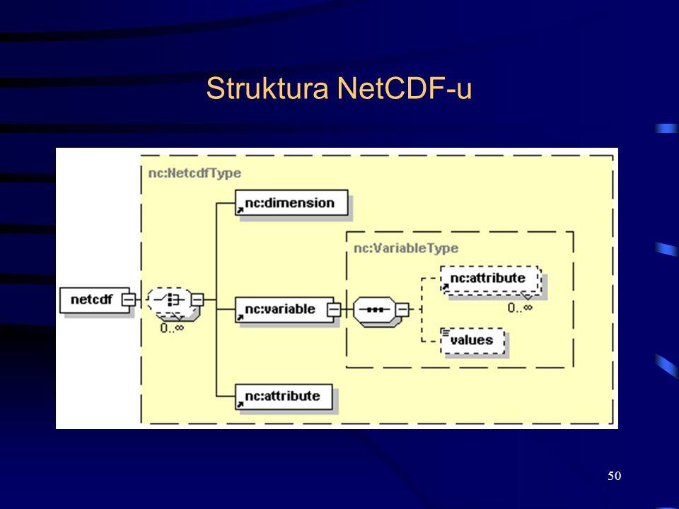 Struktura NetCDF-u