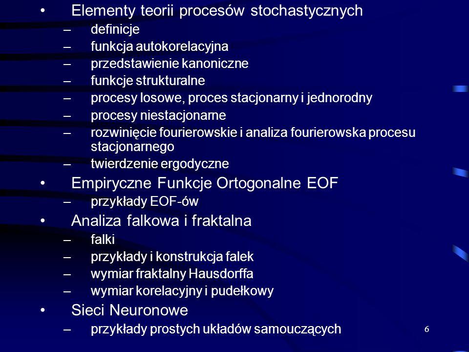 Elementy teorii procesów stochastycznych