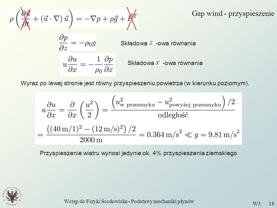 Gap wind - przyspieszenie
