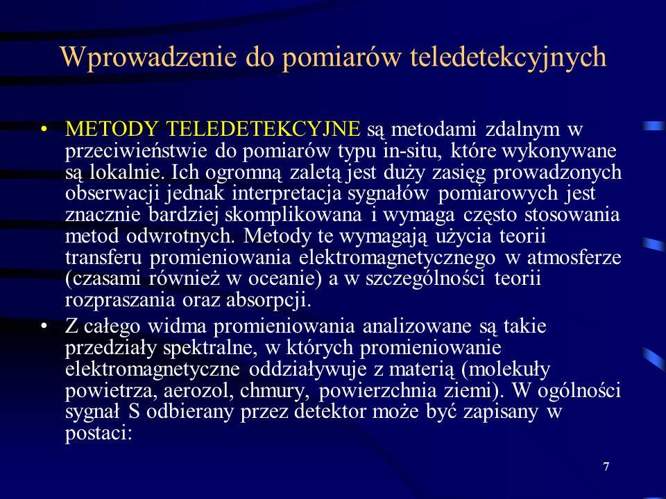 Wprowadzenie do pomiarów teledetekcyjnych