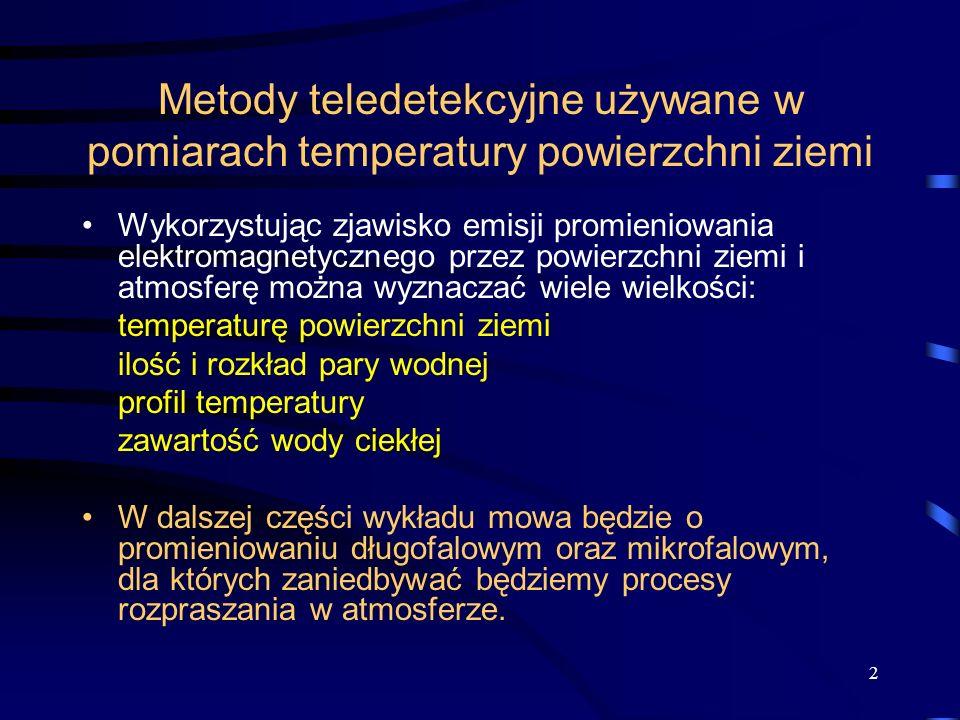 Metody teledetekcyjne używane w pomiarach temperatury powierzchni ziemi