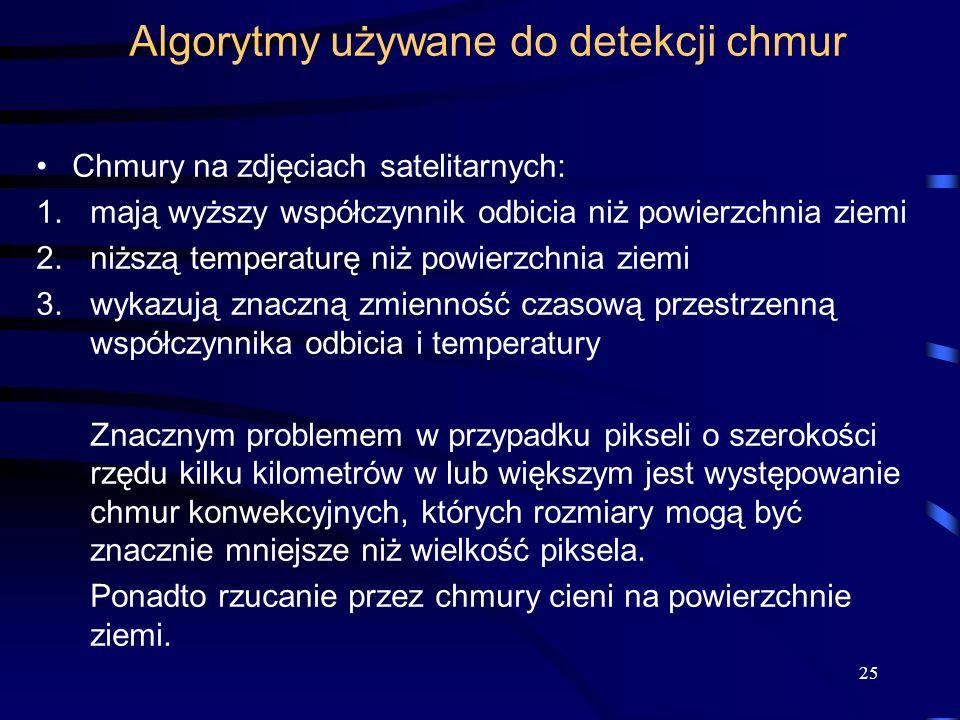 Algorytmy używane do detekcji chmur