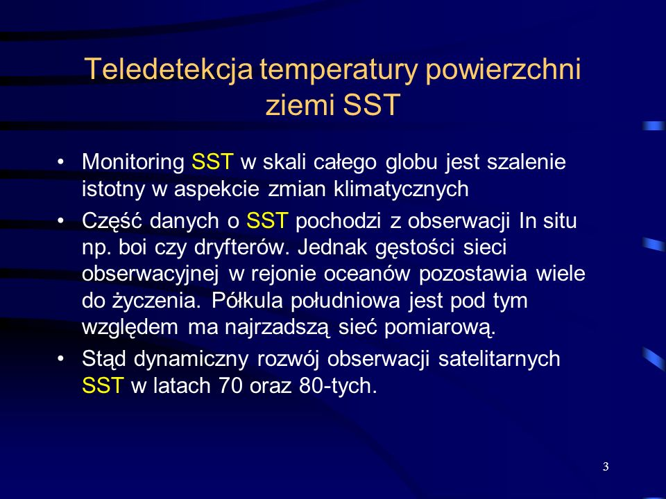 Teledetekcja temperatury powierzchni ziemi SST
