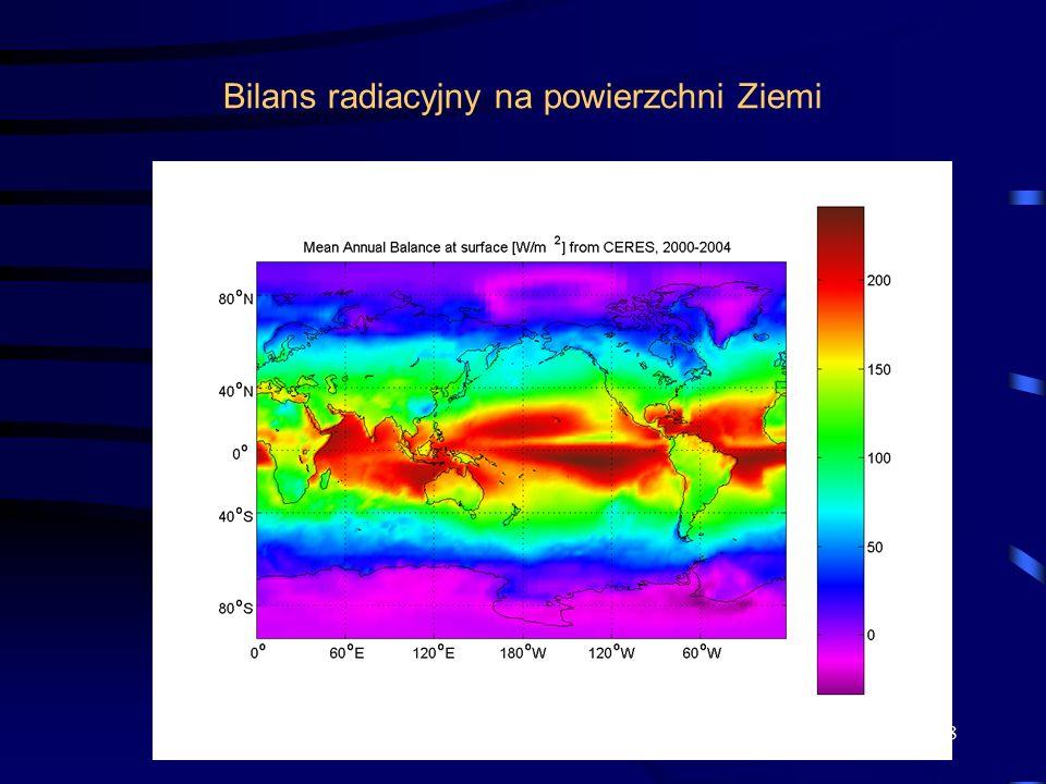 Bilans radiacyjny na powierzchni Ziemi