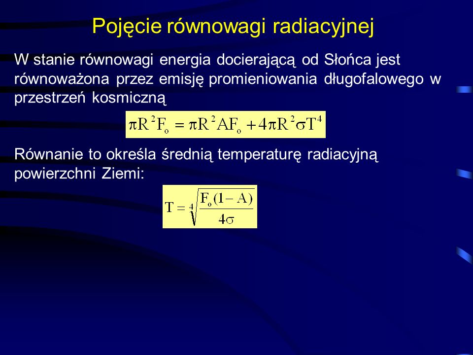 Pojęcie równowagi radiacyjnej