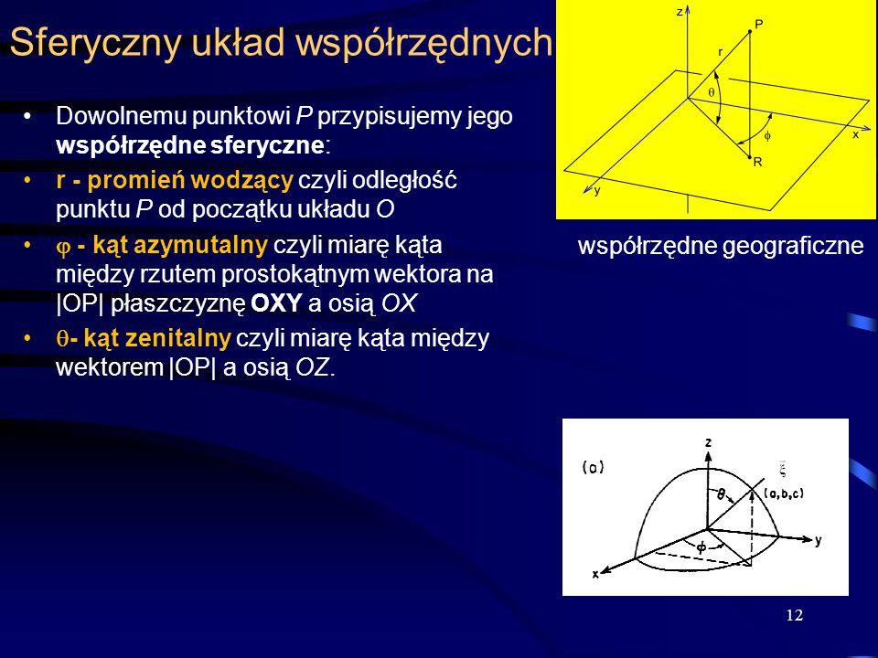 Sferyczny układ współrzędnych