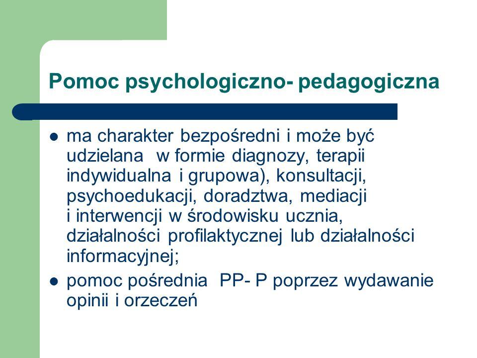 Pomoc psychologiczno- pedagogiczna
