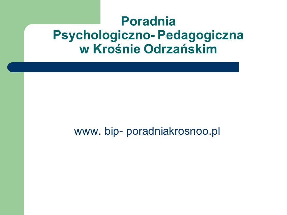 Poradnia Psychologiczno- Pedagogiczna w Krośnie Odrzańskim