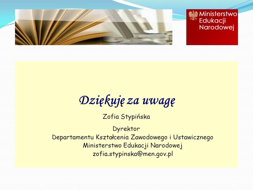 Dziękuję za uwagę Zofia Stypińska