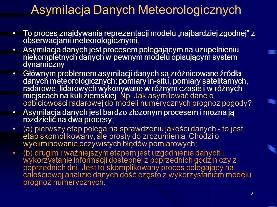 Asymilacja Danych Meteorologicznych