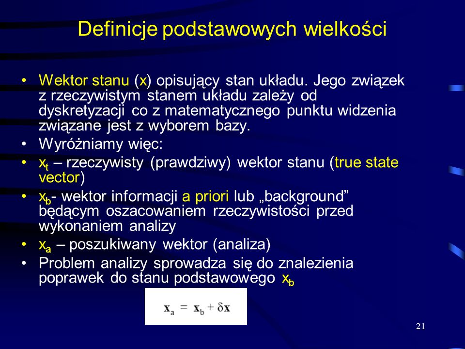 Definicje podstawowych wielkości