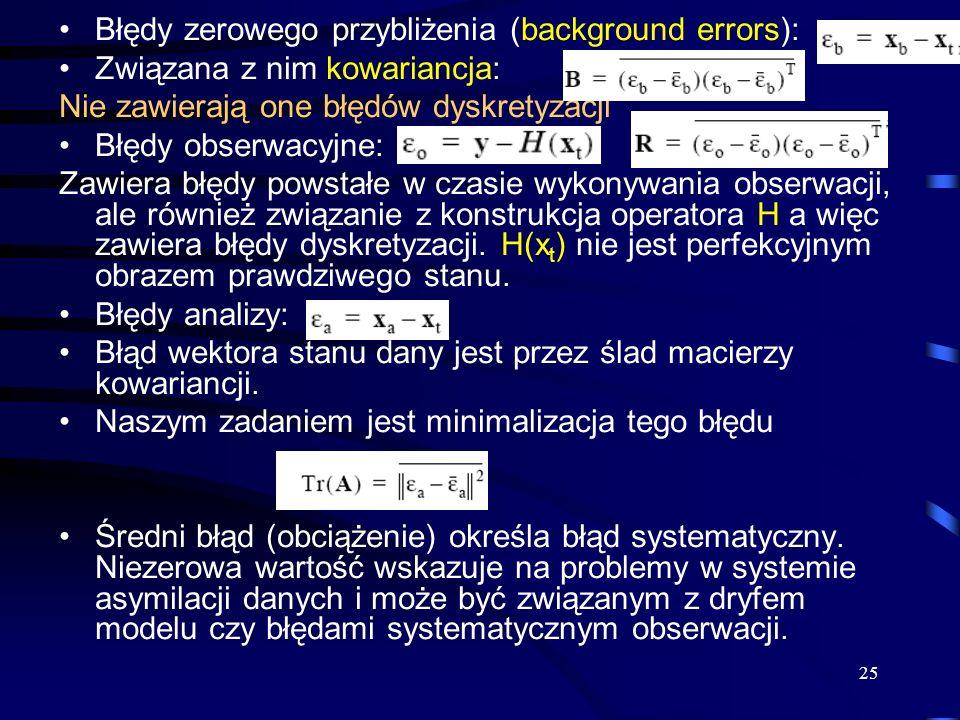 Błędy zerowego przybliżenia (background errors):