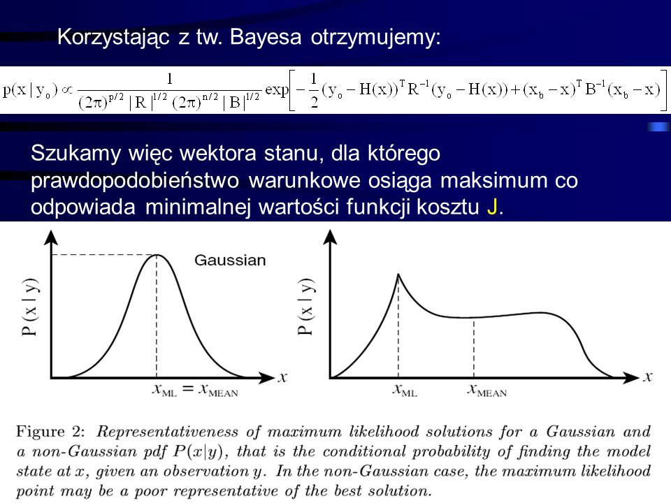 Korzystając z tw. Bayesa otrzymujemy: