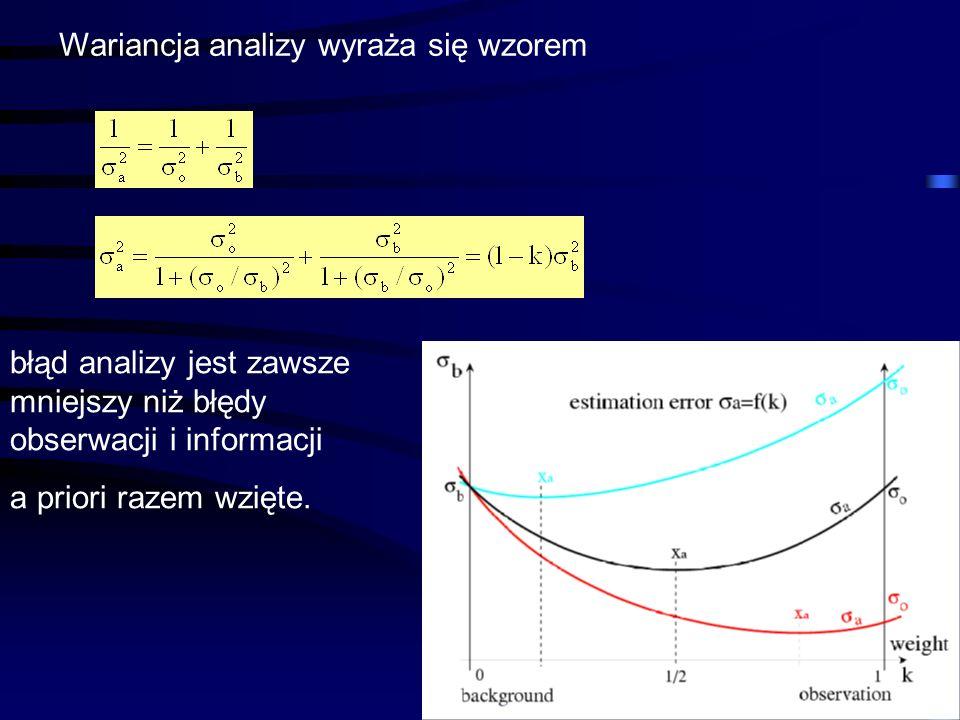 Wariancja analizy wyraża się wzorem
