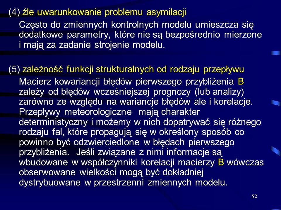 (4) źle uwarunkowanie problemu asymilacji