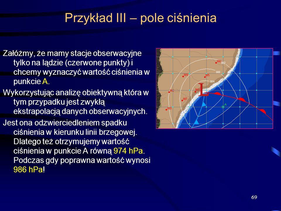 Przykład III – pole ciśnienia