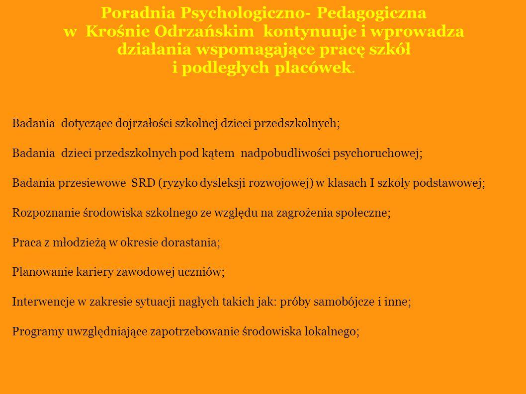 Poradnia Psychologiczno- Pedagogiczna