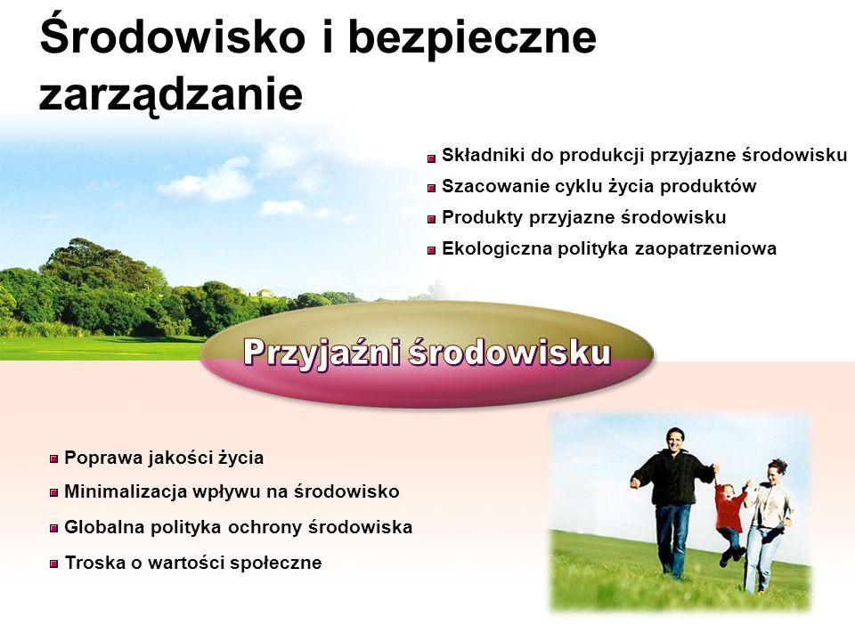 Środowisko i bezpieczne zarządzanie