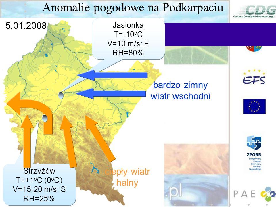 Anomalie pogodowe na Podkarpaciu