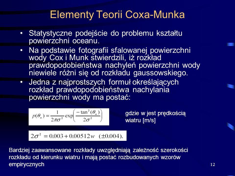 Elementy Teorii Coxa-Munka