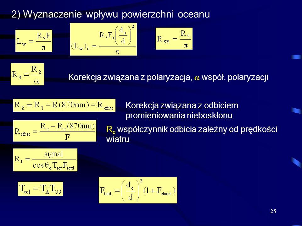2) Wyznaczenie wpływu powierzchni oceanu