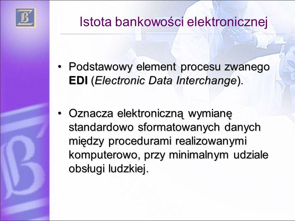 Istota bankowości elektronicznej