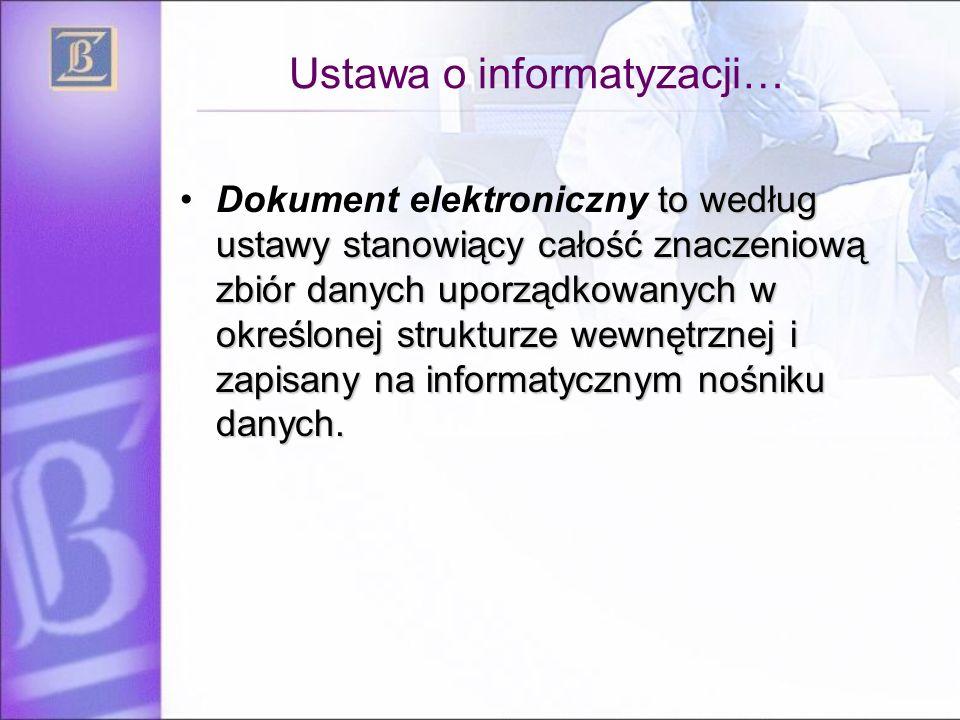 Ustawa o informatyzacji…