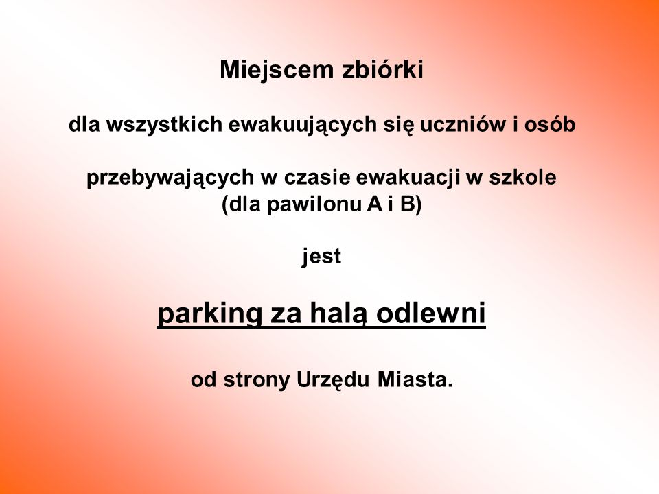 parking za halą odlewni