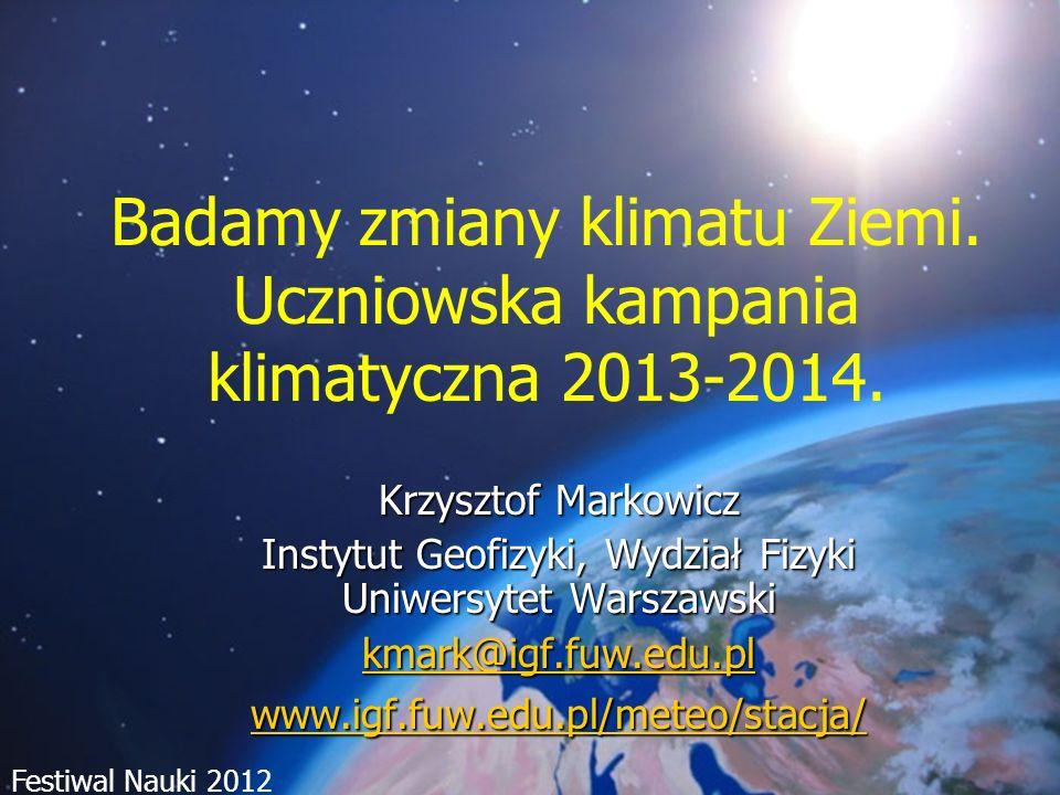 Instytut Geofizyki, Wydział Fizyki Uniwersytet Warszawski