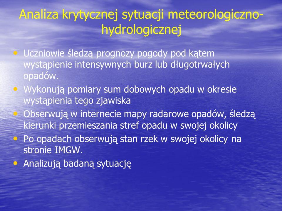 Analiza krytycznej sytuacji meteorologiczno-hydrologicznej