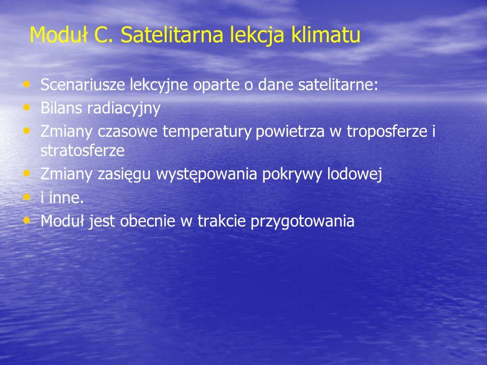 Moduł C. Satelitarna lekcja klimatu