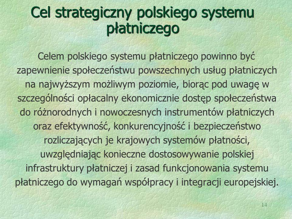 Cel strategiczny polskiego systemu płatniczego