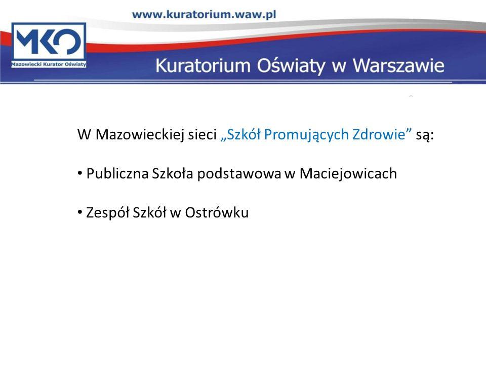 """W Mazowieckiej sieci """"Szkół Promujących Zdrowie są:"""