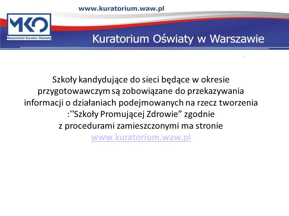 z procedurami zamieszczonymi ma stronie www.kuratorium.waw.pl