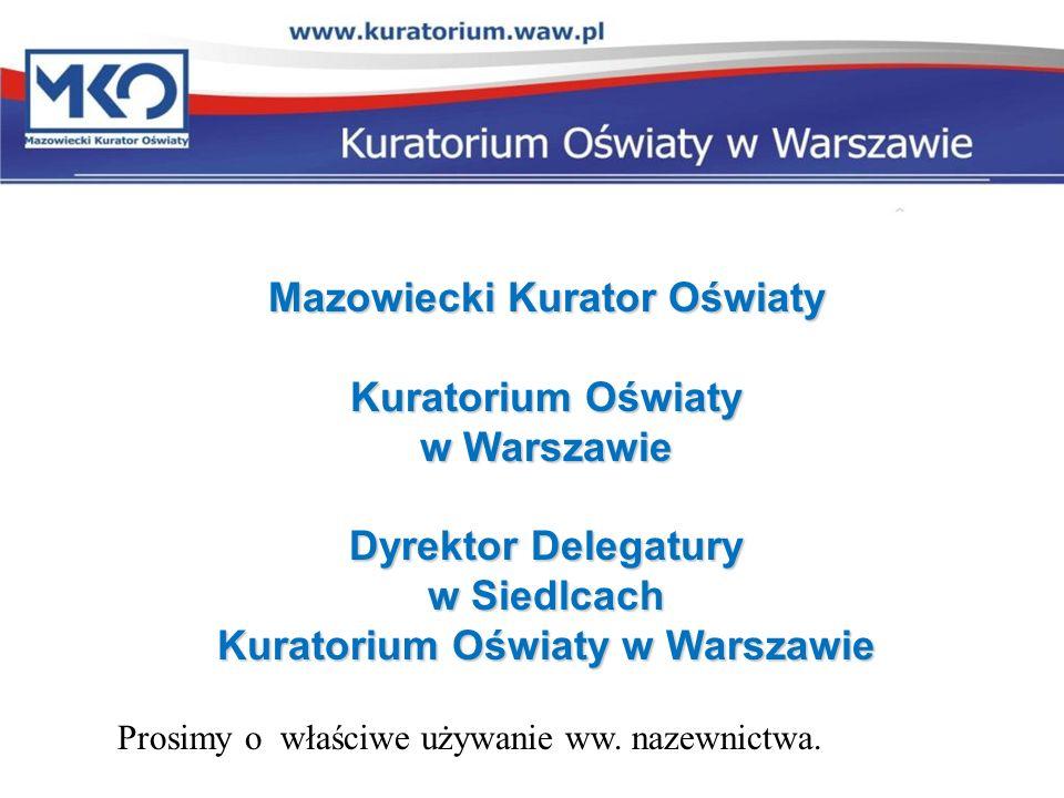 Mazowiecki Kurator Oświaty Kuratorium Oświaty w Warszawie