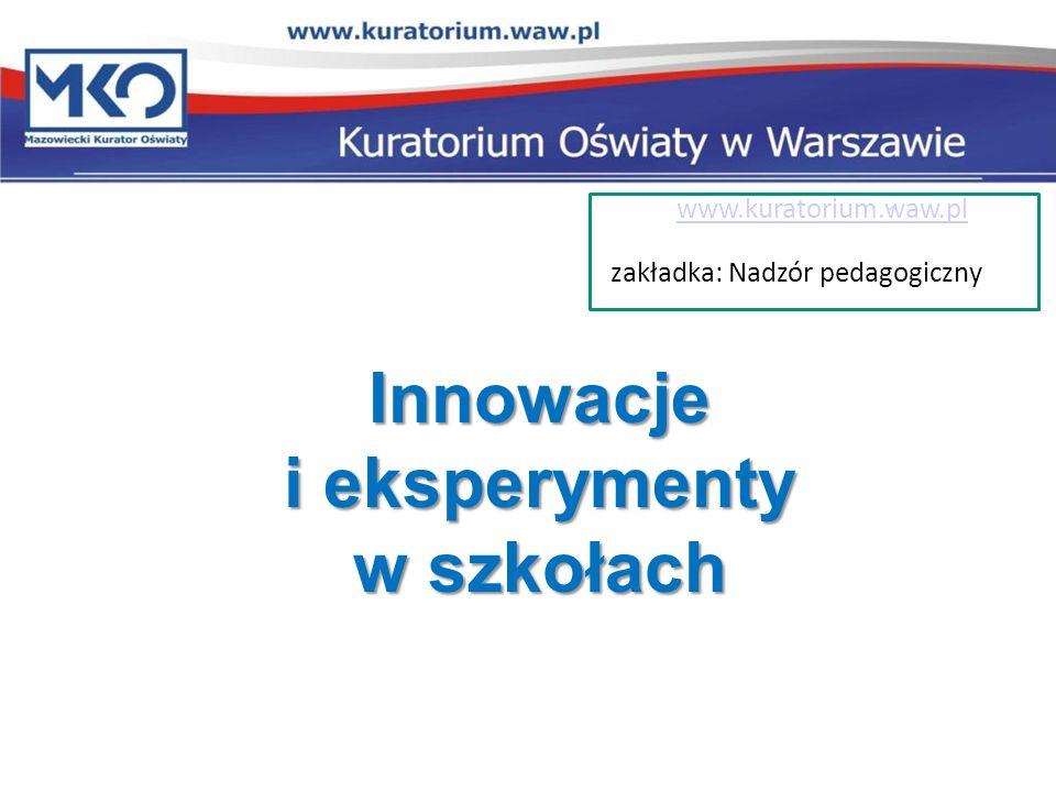 Innowacje i eksperymenty w szkołach