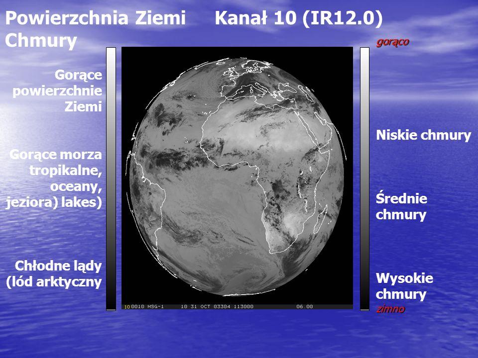 Powierzchnia Ziemi Kanał 10 (IR12.0) Chmury