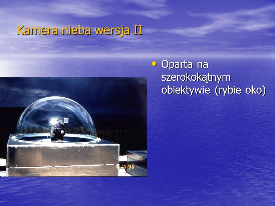 Kamera nieba wersja II Oparta na szerokokątnym obiektywie (rybie oko)