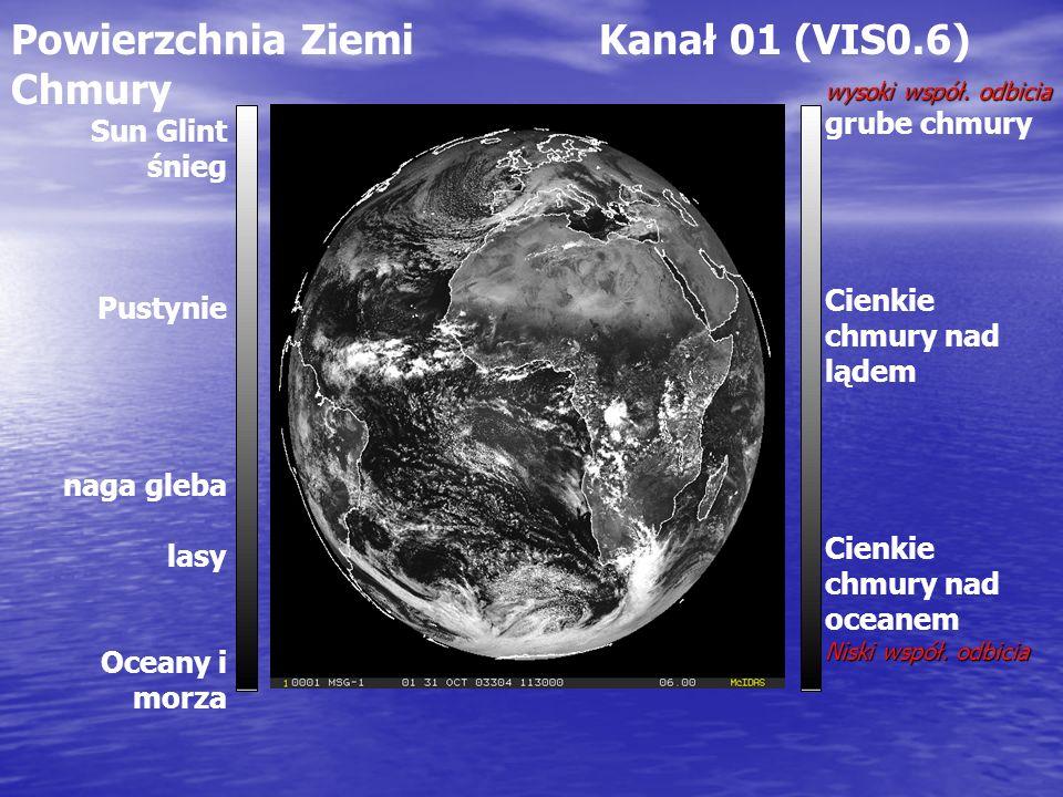 Powierzchnia Ziemi Kanał 01 (VIS0.6) Chmury