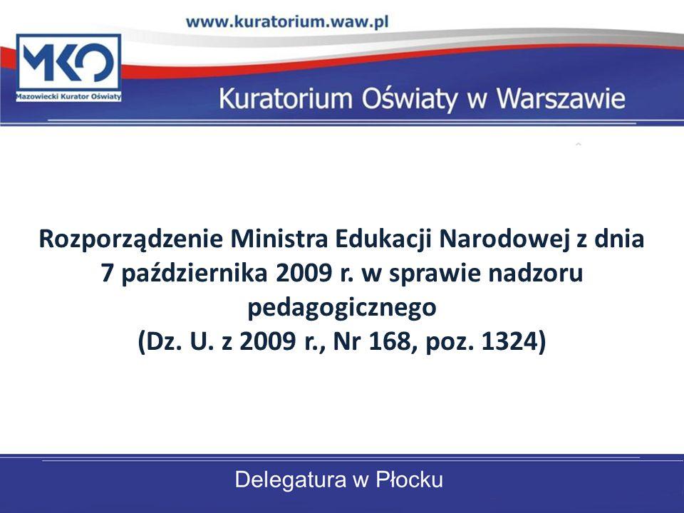 Rozporządzenie Ministra Edukacji Narodowej z dnia 7 października 2009 r.