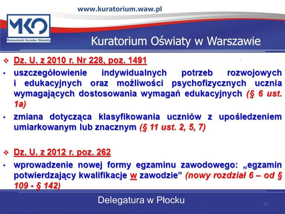 Dz. U. z 2010 r. Nr 228, poz. 1491